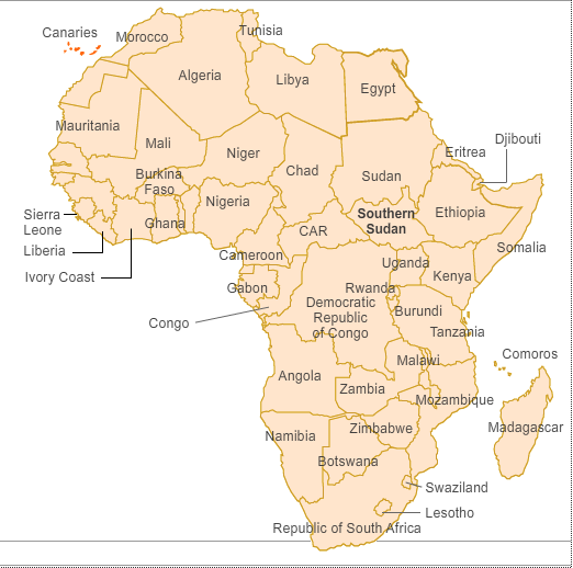 Africa Map With South Sudan.Map South Sudan Africa Map Of Africa