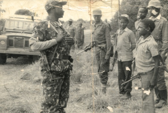 Museveni and his kagogo (little) soldiers