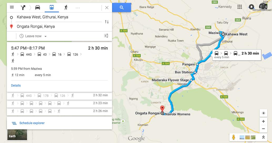 google maps lusaka