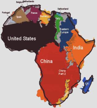 africatruesize
